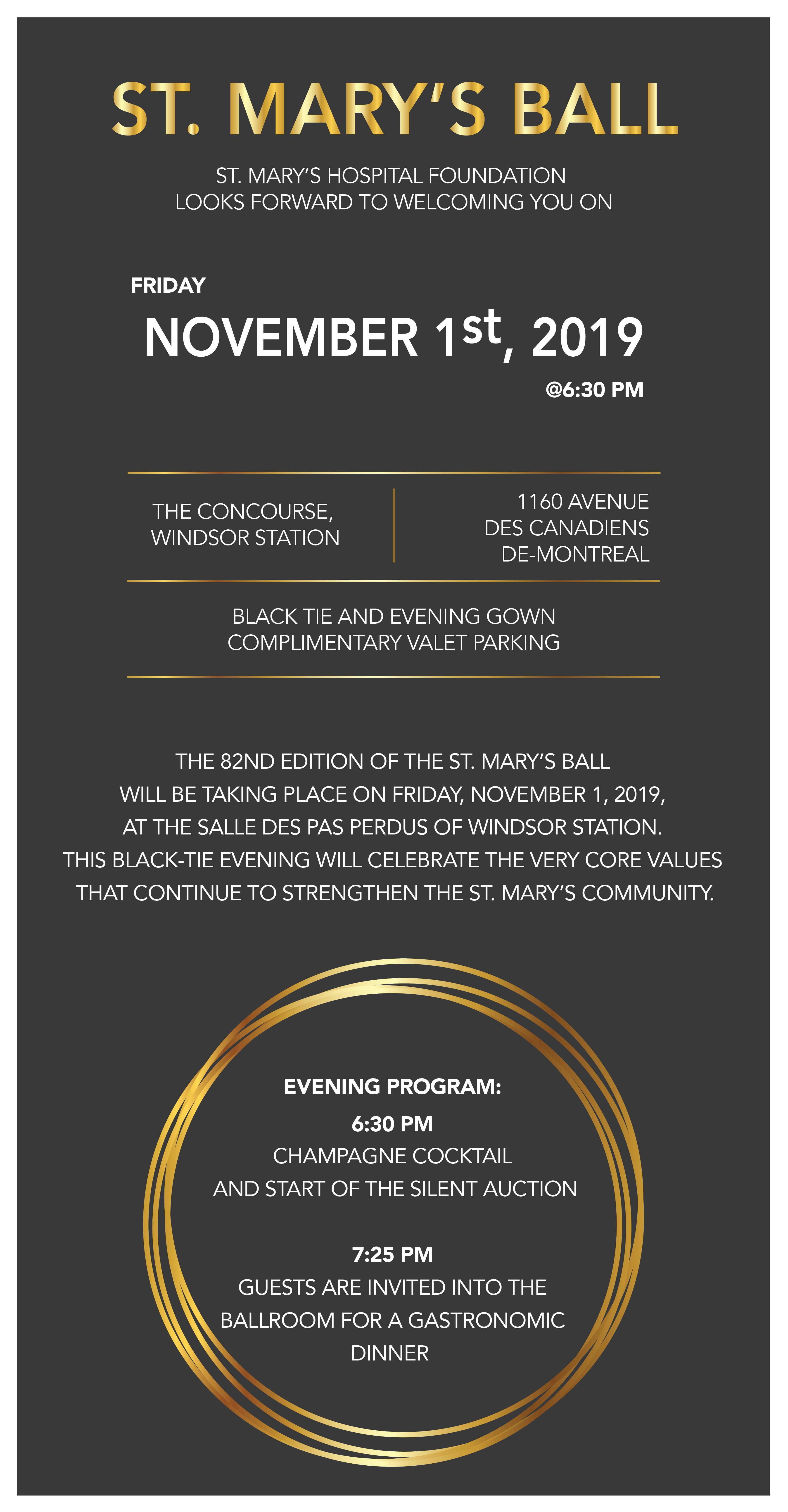 St. Mary's 82nd Ball - November 1, 2019